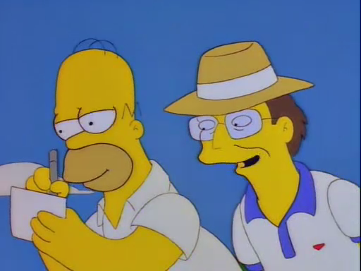 You know Homer, the traditional way to cheat at golf is to LOWER your score.