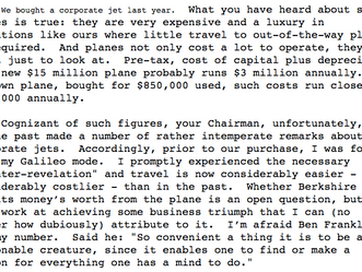 Berkshire 1986 Shareholder Letter - Cliff's Notes Version
