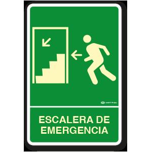 Escalera de Emergencia Izquierda (30 x 45 cm.)