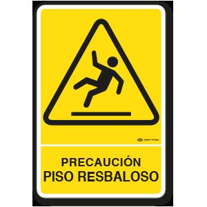 Precaución - Piso Resbaloso (30 x 45 cm.)