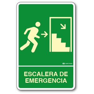Escalera de Emergencia Derecha (30 x 45 cm.)