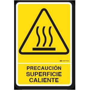 Precaución - Superficie Caliente (30 x 45 cm.)
