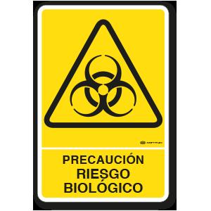 Precaución - Riesgo Biológico (30 x 45 cm.)