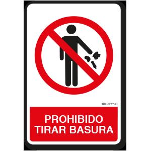 Prohibido tirar Basura (30 x 45 cm.)