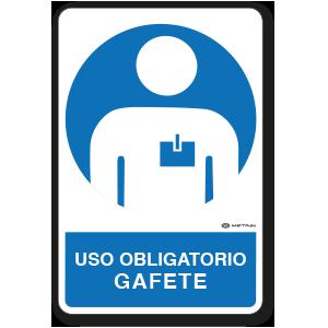 Uso Obligatorio - Gafete (30 x 45 cm.)