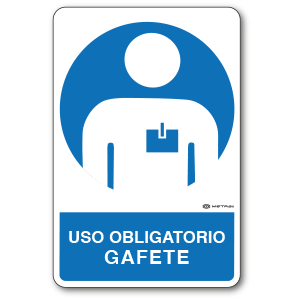 Copia de Uso Obligatorio - Gafete (30 x 45 cm.)