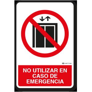 No utilizar elevadores (30 x 45 cm.)