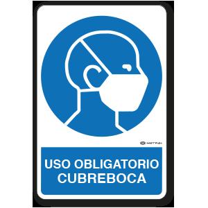 Uso Obligatorio - Cubreboca (30 x 45 cm.)