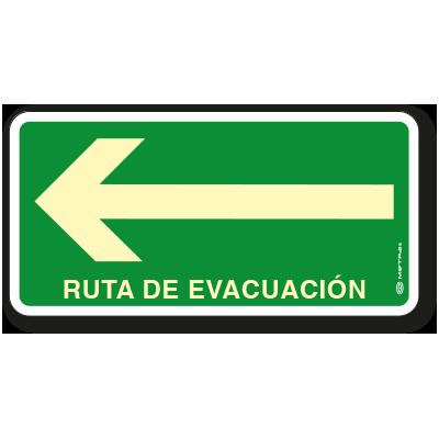 Ruta de Evacuación Izquierda (20 x 40 cm.)