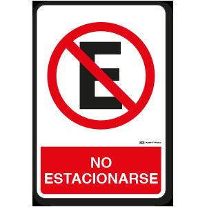 No Estacionarse (30 x 45 cm.)