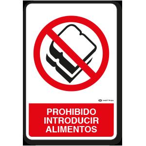 Copia de Prohibido introducir Alimentos (30 x 45 cm.)