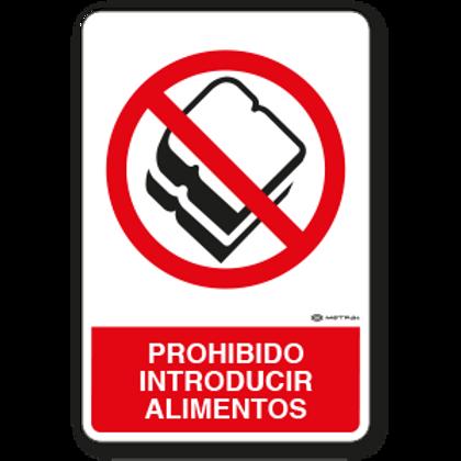 Prohibido introducir Alimentos