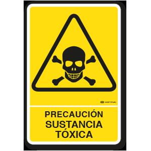 Copia de Precaución - Sustancia Tóxica (30 x 45 cm.)