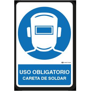 Uso Obligatorio - Careta de Soldar (30 x 45 cm.)