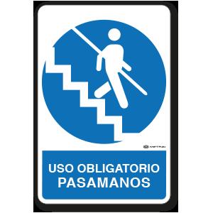 Uso Obligatorio - Pasamanos (30 x 45 cm.)