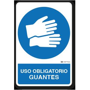 Uso Obligatorio - Guantes (30 x 45 cm.)