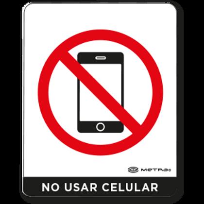 No usar teléfono celular