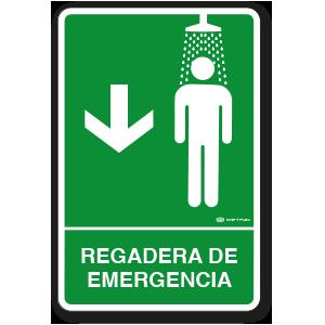 Regadera de Emergencia (30 x 45 cm.)