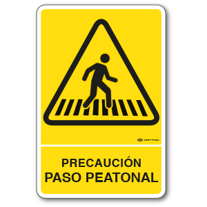 Copia de Precaución - Paso Peatonal (30 x 45 cm.)