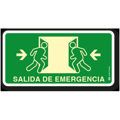 Salida de Emergencia (20 x 40 cm.)