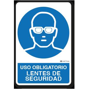 Uso Obligatorio - Lentes de Seguridad (30 x 45 cm.)