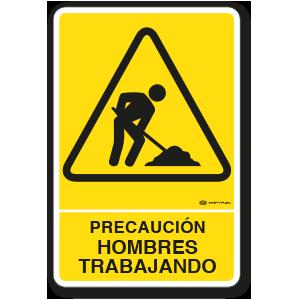 Precaución - Hombres Trabajando (30 x 45 cm.)