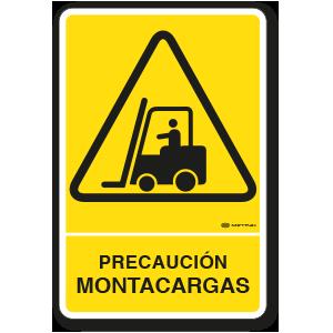 Copia de Precaución - Montacargas (30 x 45 cm.)