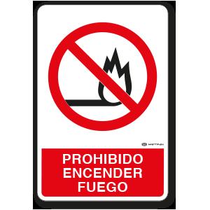 Copia de Prohibido encender Fuego (30 x 45 cm.)