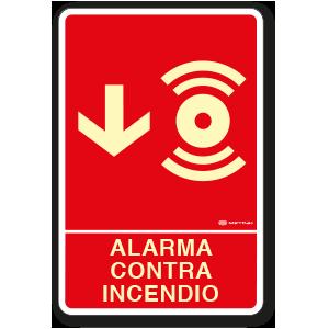 Copia de Alarma contra Incendio (30 x 45 cm.)