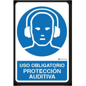 Uso Obligatorio - Protección Auditiva (30 x 45 cm.)