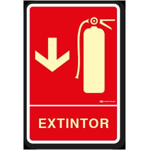 Extintor (30 x 45 cm.)