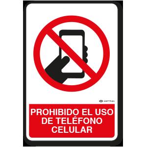 Prohibido el uso deTeléfono Celular