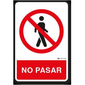 No Pasar (30 x 45 cm.)