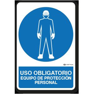 Uso Obligatorio - Equipo de Protección Personal (30 x 45 cm.)