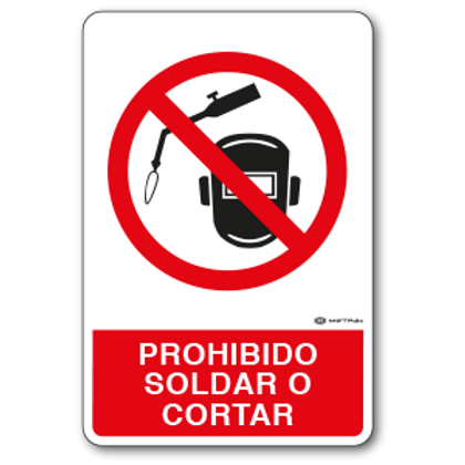 Prohibido Soldar o Cortar