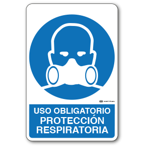 Copia de Uso Obligatorio - Protección Respiratoria (30 x 45 cm.)