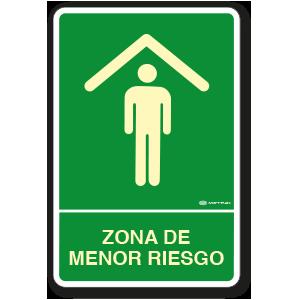 Zona de Menor Riesgo (30 x 45 cm.)