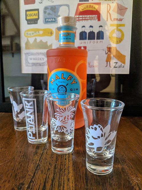 4 Custom Shot Glasses