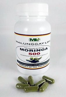 Moringa (Malunggay) 500mg REGULAR Capsules Bottle of 120 pcs