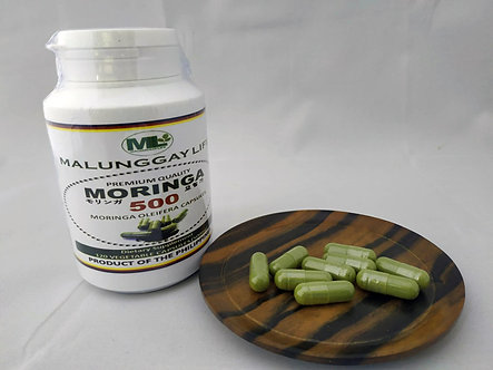 Moringa (Malunggay) 500mg VEGETABLE Capsules Bottle of 120 pcs