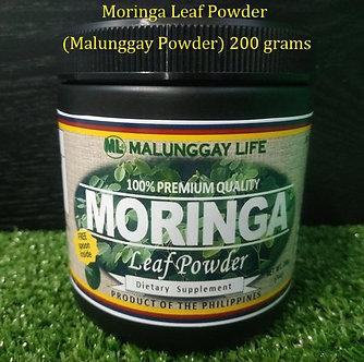 (Wholesale) Moringa Leaf Powder (200grams) Plastic Canister x 12 PCS