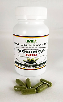 (Wholesale) Moringa 500mg VEGETABLE Capsules Bottle of 120 pcs x12 Bottle