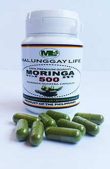 Moringa (Malunggay) 500mg REGULAR Capsules Bottle of 60 pcs