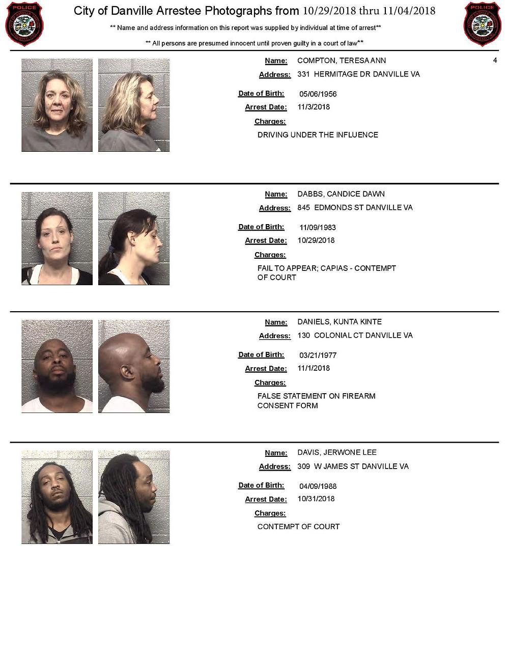 danville arrest photos