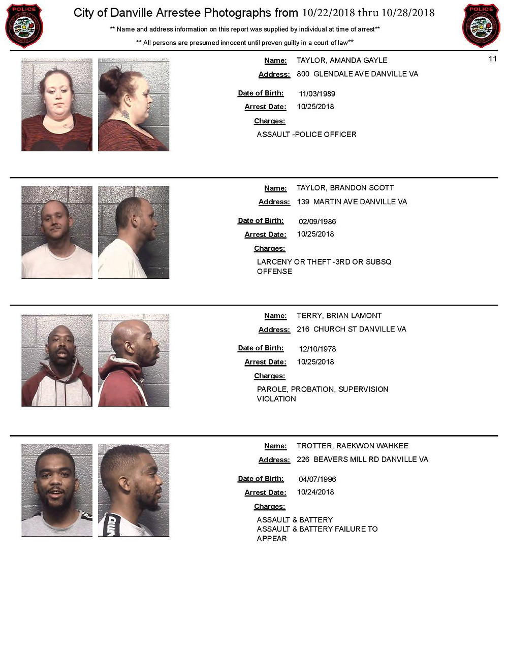 Mugshots Danville Jail