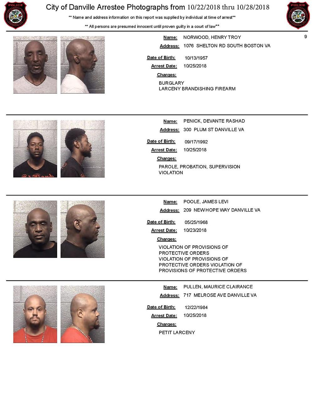 Mugshots in Danville VA