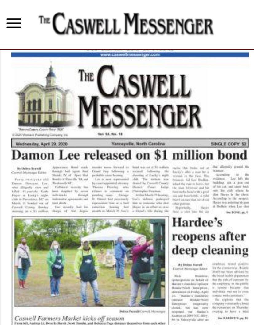 Bail Bondsman in Caswell County, NC