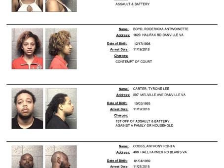 *NEW* Danville Mugshots - Arrest Photos from Nov. 19th - Nov. 25th