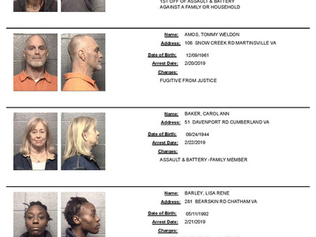 Danville Arrests / Mugshots **Feb. 2019**
