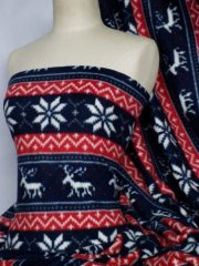 RED/NAVY BLUE REINDEER